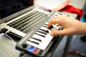 Firetech Digital Music for Teens Holiday Workshop MIDI Keyboards Record Music