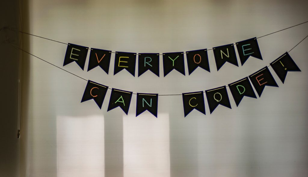 'Everyone Can Code!' - Bunting Flags